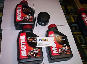 3-Lt-Set-Entretien-Filtre-a-Huile-Motul-7100-10W60-4T-Triumph-955-Sprint-st-2001