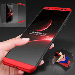 buy popular b97ae 730c6 Details about For Huawei Mate 10 Lite 360° Full Protective Hybrid Case +  Tempered Glass Cover