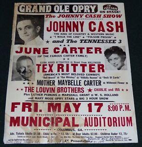 JOHNNY CASH JUNE CARTER MOTHER MAYBELLE TEX RITTER 1963 ORIGINAL ...