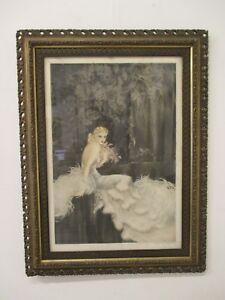Quadro-stampa-acquaforte-Art-Deco-anni-30-firmata-Louis-Icart-gravure