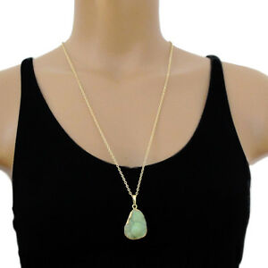 djs-Sundance-Sol-Huge-Green-Drusy-Druzy-Pendant-Gold-Chain-Necklace-Boho-Chic