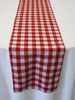 Artofabric Checkered Gingham Poly Poplin Table Runner 12 X 72 Inch