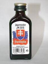 Jägermeister mini flasche EM 2016 JM  Slovensko Sonderedition 0,02 ml 35% vol