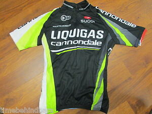 1fa86433b Image is loading CANNONDALE-LIQUIGAS-CYCLING-TEAM-SHORT-SLEEVE-JERSEY-HALF-