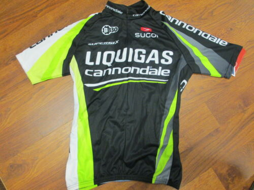 CANNONDALE LIQUIGAS CYCLING TEAM SHORT SLEEVE JERSEY HALF ZIP SUGOI BLACK