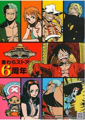 One Piece JAPAN Nagoya Mugiwara Store 6th Anniversary Merchandise Catalog A4