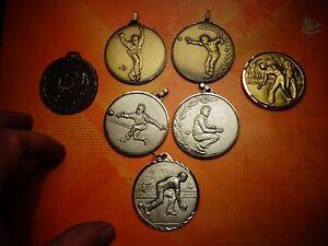 Lot-de-7-belles-Medailles-trophee-de-Concours-de-Petanque-Jeu-de-Boule