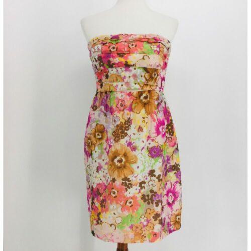 Details about  /NWT J Crew strapless Coral Dress Women's Size 8 100/% Cotton