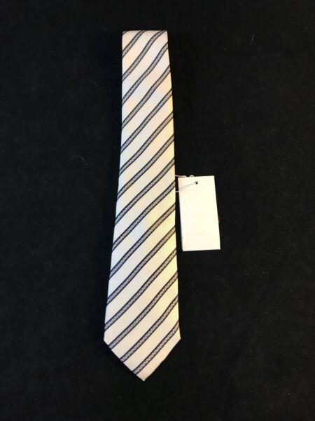 Audace Bnwt Armani Jaco Superiore 100% Cravatta Di Seta Colore: Lily Cert. Autenticità Rrp £ 98