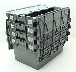 Vgc Used 4 X Heavy Duty Plastic Storage Box Boxes With