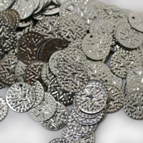 Bauchtanz Deko Basteln Perlen Metall 15mm 100g Münzen Silber Bastelmünzen