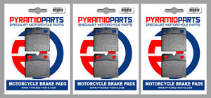 Front & Rear Brake Pads (3 Pairs) for Laverda 3C 1000 3CE, 3CL 1974