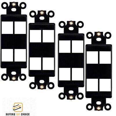 Decora Strap 4-Port Keystone Black