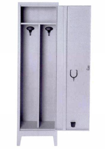 Armadio spogliatoio sporco pulito 1 posto in metallo 40x40x180 con serratura