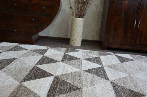 Dick Qualität Modern Design Dicht Weiche Teppiche SHADOW creme beige Dreiecke