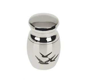 2pcs Stainless Steel Jar Locket Pet Funeral Memorial Urn Cremation Holder