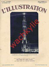 L'illustration n°4677 du 22/10/1932 Beffroi Lille Yo-yo Musée Tours Hermopolis