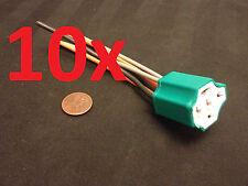 10x Ceramic 5 Pin DC 12V Automotive Car Wiring Harness Relay Socket 100a 90a