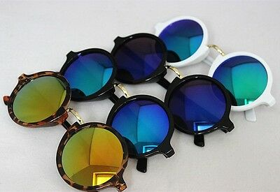 New Fashion Round Sunglasses Reflective Glasses Color Mirror Eyeglasses  1508#
