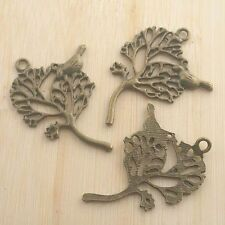 10pcs antiqued silver two sides wings spacer beads G882