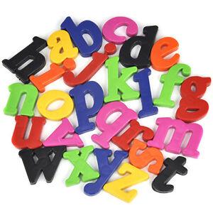52 Cute Magnetic Lower/Upper Case Alphabet Letters Children Fridge Spelling Toy