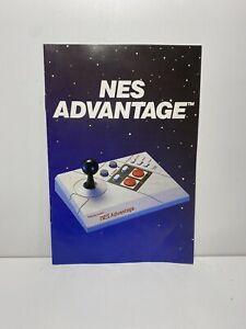 NES Advantage Joystick Nintendo Original Instruction Manual Booklet Only