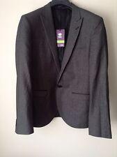 Next Men`s Jackets Slim Fit Grey Size 42R