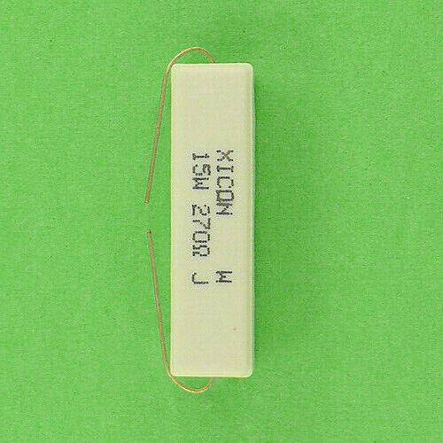 270 Ohm 15W 5/% Wirewound Power Resistor Ceramic Sandstone Cement Axial Lead NEW