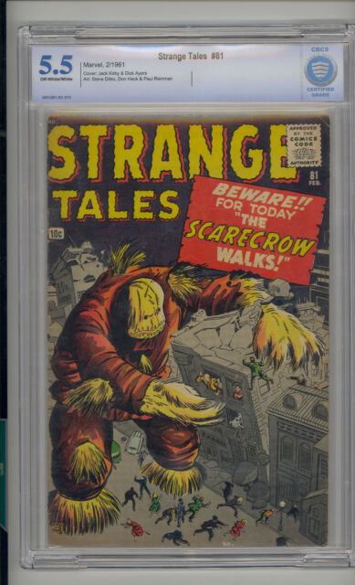 Strange Tales #81 CBCS 5.5 FN- Unrestored Atlas Marvel Scarce OW/W Pages