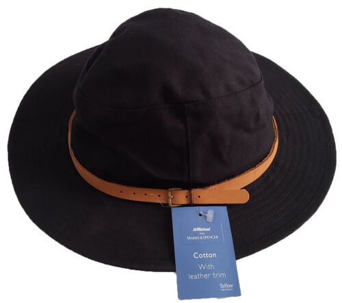 MARKS SPENCER NAVY SUN HAT TEFLON SIZE LARGE 59-60CM EURO 4 M/&S BUY 2 GET 1 FREE