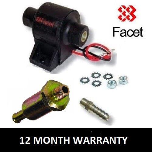 8mm Union FACET Posi Flow 12v Treibstoffpumpe Set 1.5 bis 4.0 Psi