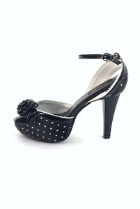 PINUP-COUTURE-BLACK-WHITE-POLKA-DOT-ANKLE-STRAP-HEEL-SANDALS-BETTA-UK-5-11079