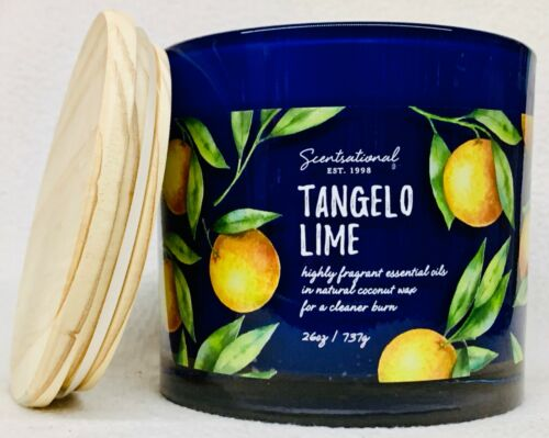 1 Scentsational TANGELO LIME Natural Coconut Wax Candle Large 26 oz