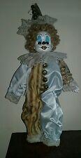 art doll Creepy Gothic ooak reborn Horror Clown Doll porcelain with music box