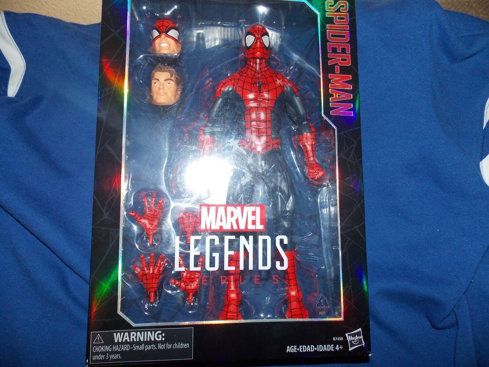 4-Marvel Legends 12 inch Hasbro Spiderman + Captain America + Ironman + Deadpool