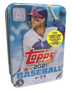 2021 Topps Baseball Series 1 Bryce Harper Collectible Tin - New Sealed