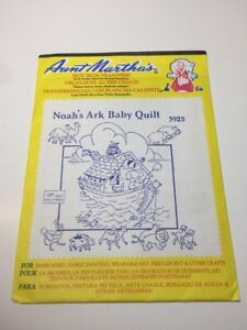 Noah/'s Ark Baby Quilt Aunt Martha/'s Hot Iron Embroidery Transfer NEW