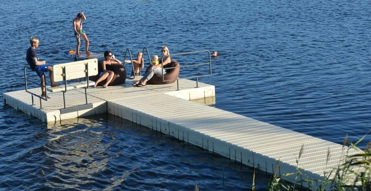 Floß, Badeplattform, Ponton, Schwimmkörper, Ponton, Badeplattform, Steg af9cec