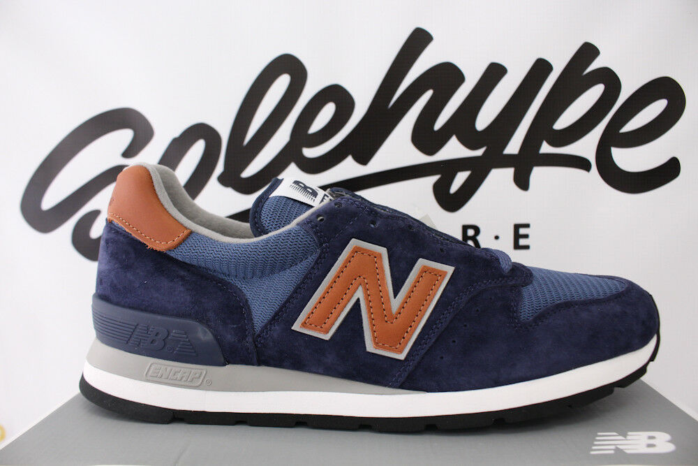 NEW BALANCE 995 MADE IN USA WINTER PEAKS PACK NAVY BLUE BROWN M995DCB SZ 9