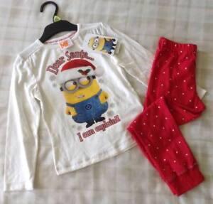 e7dd8aeab21 Girls Despicable Me Minion Made  Dear Santa I Can Explain  Xmas ...