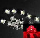 50Pcs 5mm F5 Piranha LED Red Round Head Super Bright Light Emitting Diode