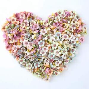 50x-Multicolor-Daisy-Flower-Heads-Mini-Silk-Artificial-Flowers-Wedding-Party-Dec