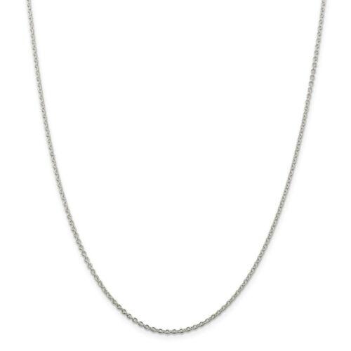 """36/"""" fabricants Standard prix de détail $91 Sterling Silver 1.95 Mm Câble Chaîne Collier"""