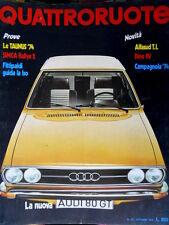 Quattroruote 214 1973 Nuova Audi 80GT. Prove Taunus '74, Simca Rallye2 [Q75]