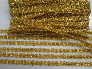 6-METER-Gold-Spitze-1cm-breit-Borte-Elegant