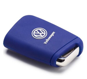Volkswagen-Zubehoer-Silikon-Schluesselcover-Blau-Racing-Blue
