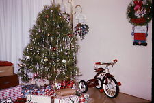 1964 Slide New Tricycle Parked Next to Christmas Tree Bicycle