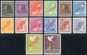 BERLIN 1949, MiNr. 21-34, tadellos postfrisch, Fotoattest Schlegel, Mi. 1400,-