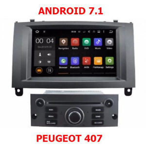 Autoradio Android 7.1 Navigation GPS Bluetooth Peugeot 407