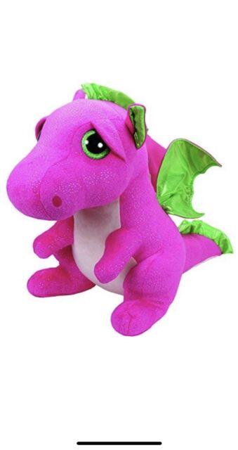 268b51b1bfb Ty Beanie Babies 37071 Boos Darla The Pink Dragon Large Boo Buddy ...